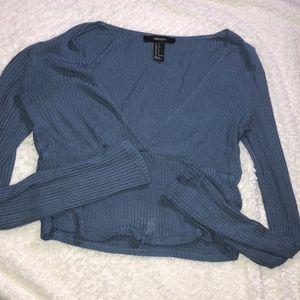 Forever 21 Long-sleeve ribbed shirt